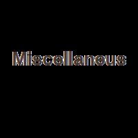 Miscellaneus